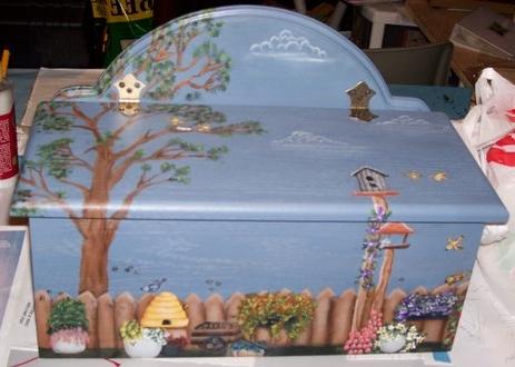Carmen peinture sur bois porte folio for Peinture sur bois